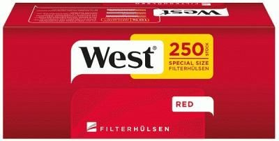 West Special Red Hülsen Filterhülsen Zigarettenhülsen Stopfhülsen 250 Stück