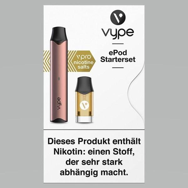 Vuse (Vype) ePod Starterset Rosegold mit ePod Cap Mango 18mg