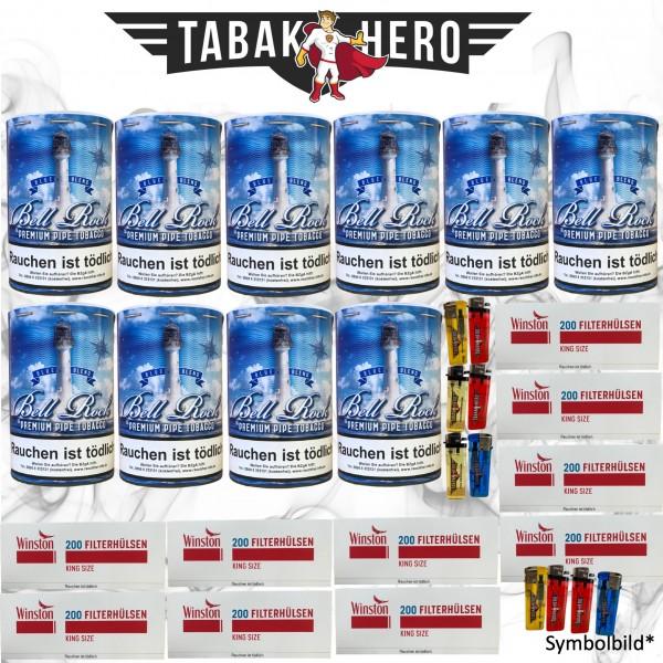 1600g Bell Rock Blue Tabak + 2000 Winston Hülsen + Zubehör ! AKTION !