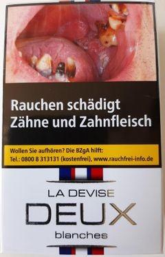 La Devise Deux blanches (Tricolore Egalite weiss) Zigaretten (20 Stück)