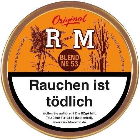 R and M Blend No53 (Rum&Maple) Tabak 100g Dose (Pfeifentabak)