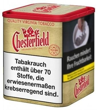 4x Chesterfield True Red Tabak 95g Dose (Drehtabak / Feinschnitt)