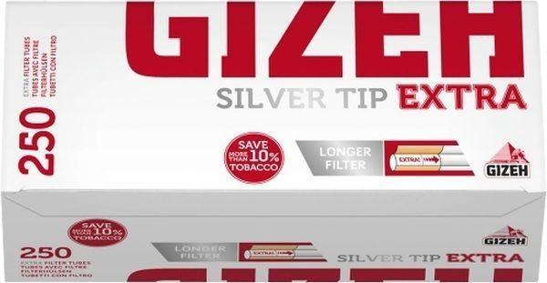 1000 Stk Gizeh Silver Tip Extra Hülsen Filterhülsen Zigarettenhülsen Stopfhülsen