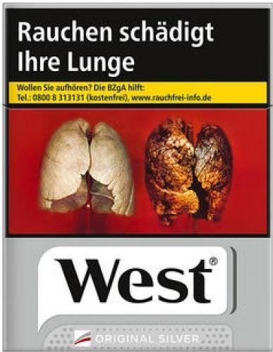 West Silver Zigaretten (34 Stück)