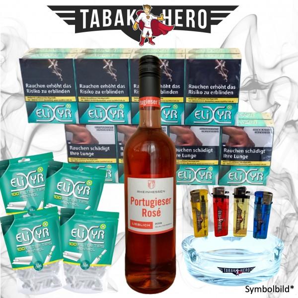 16 x Elixyr Zigaretten XL + 400 Elixyr Tips (Energy) Menthol-Filtertips, Wein