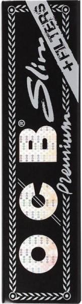 32x OCB Premium schwarz Slim + Filter Tips Drehpapier/ Blättchen/ Zigarettenpapier