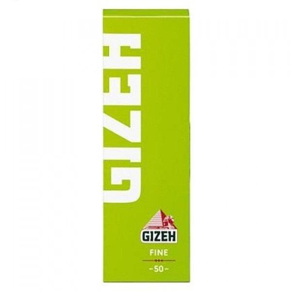 5 x 50 Blatt Gizeh Fine Papers (green) Drehpapier/ Blättchen/ Zigarettenpapier