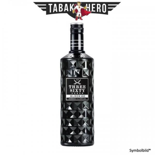 Three Sixty Black 42 Premium Vodka 0,7L alc.42 Vol.-%