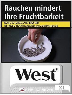 West Silver (Stange / 10x21 Zigaretten)