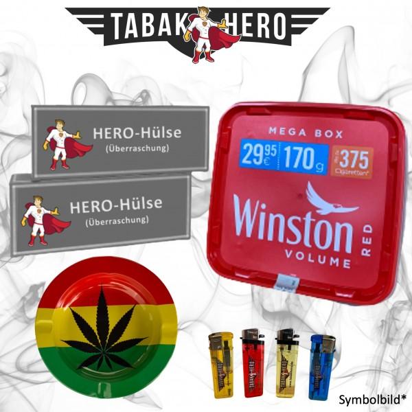 AKTION! 170g Winston Red Megabox Tabak Eimer, Hülsen + Zubehör, Stopftabak, Cannabis-AB