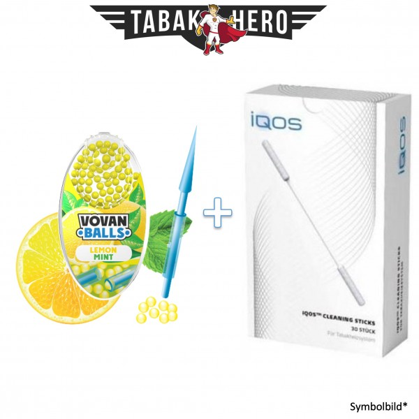 HEETS / IQOS Cleaning Sticks + 1x Aromakugeln Lemon Mint 100 stk.