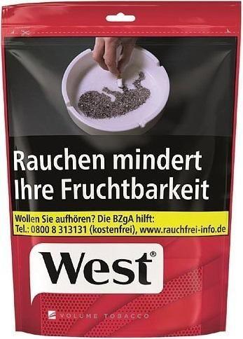 West Red Tabak 105g Beutel (Stopftabak / Volumentabak)