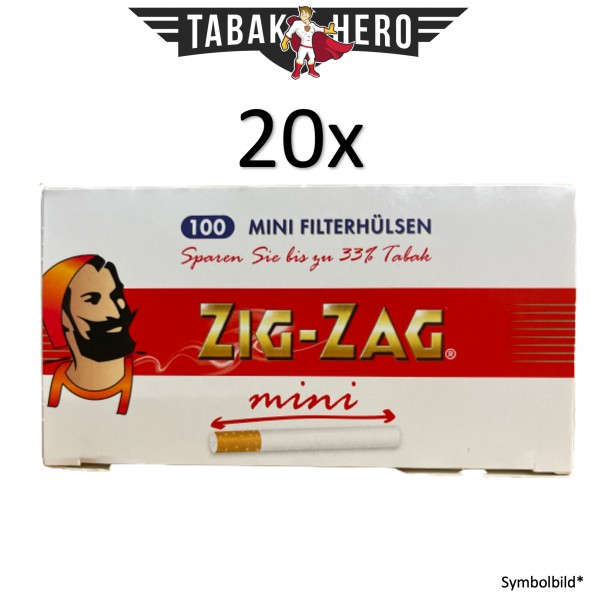20x Zig Zag 100 Mini Filterhülsen