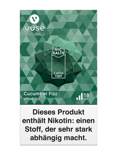 5 x 2 Vuse (Vype) ePod Caps Cucumber Fizz 18mg