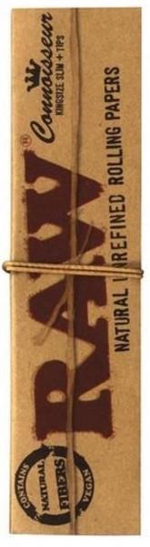24 x 32 Blatt Raw Connoisseur KS Drehpapier/ Blättchen/ Zigarettenpapier