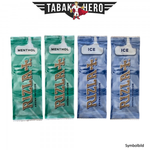 Rizla Aromakarten Mix Ice+Menthol - 4 Stück Probierset Aroma Karten (wie HIPZZ)
