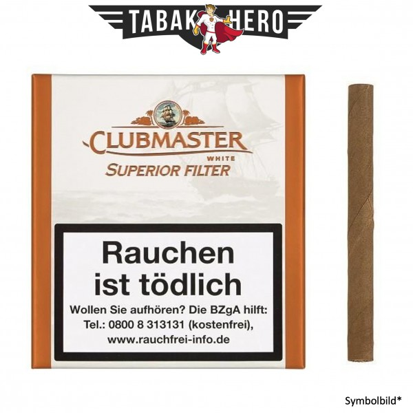 Clubmaster 178 White Filter (5x20 Zigarillos)