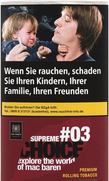 5x Mac Baren Choice Supreme No.3 Tabak 30g Pouch (Drehtabak / Feinschnitt)