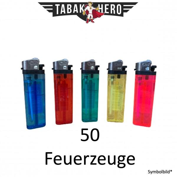 50x Einweg Feuerzeuge von It's Cool verschiedene Farben