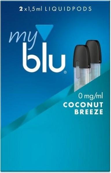 5 x 2 myblu Pod Coconut Breeze (0mg)