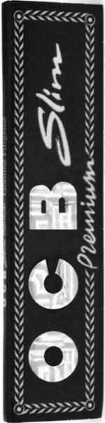 OCB Premium schwarz Slim Drehpapier/ Blättchen/ Zigarettenpapier 32 Blatt