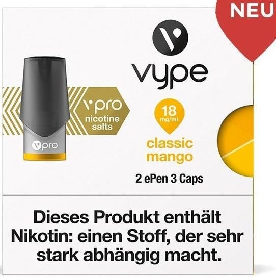 6 x 2 Vuse (Vype) ePen Caps Blushed Mango 18mg