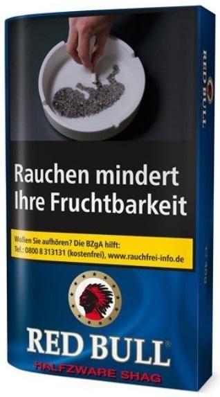 5x Red Bull Halfzware Tabak 40g Pouch (Drehtabak / Feinschnitt)