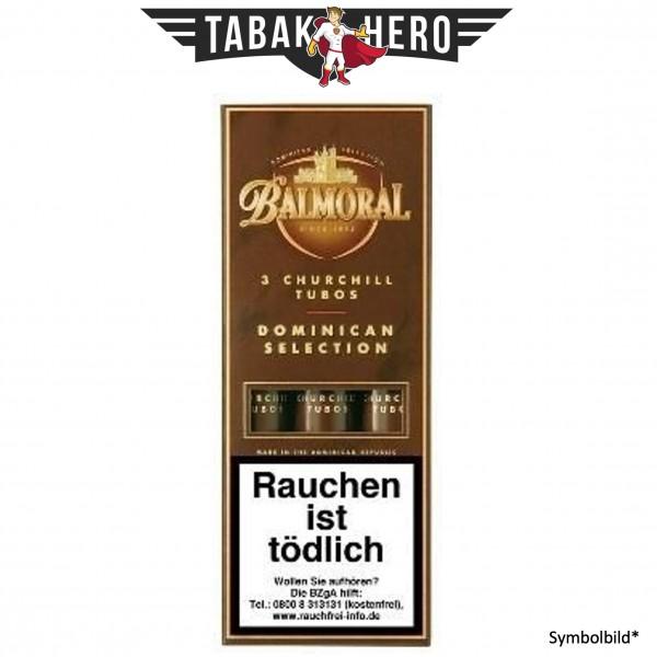 Balmoral Dominican Selection Churchill Tubos (3 Zigarren)