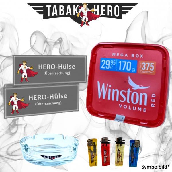 170g Winston Red Megabox Tabak Eimer, Hülsen + Zubehör, Stopftabak, Volumentabak