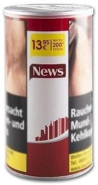 News Red Tabak 75g Dose (Stopftabak / Volumentabak)