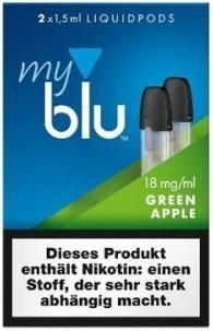5 x 2 myblu Pod Green Apple (18mg)