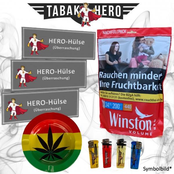 200g Winston Red Zip XXXL Tabak Zip Bag + Hülsen etc. Stopftabak, Cannabis-AB
