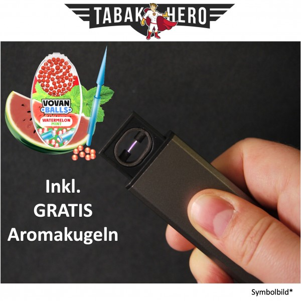 Edles Lichtbogen USB Feuerzeug + Gratis Vovan Aromakapseln Watermelon Mint