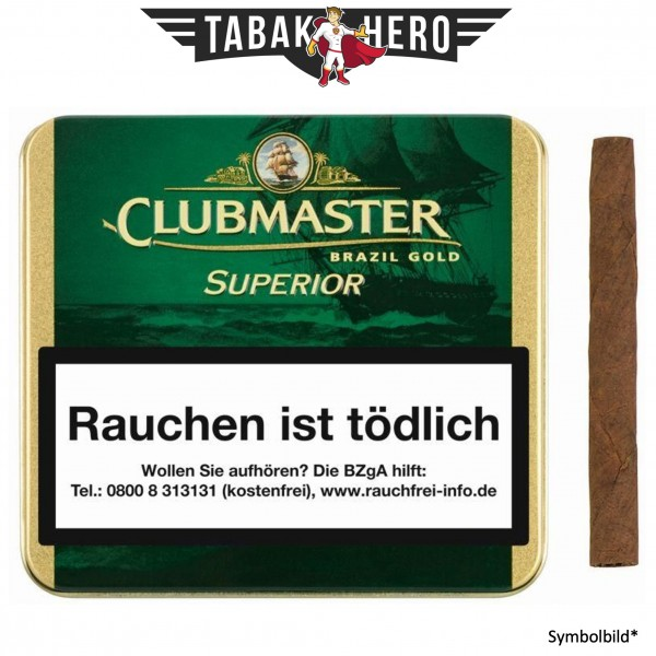 Clubmaster 164 Gold Brasil20 (20 Zigarillos)