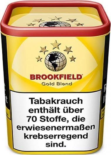 Brookfield Gold Tabak 120g Dose (Drehtabak / Feinschnitt)