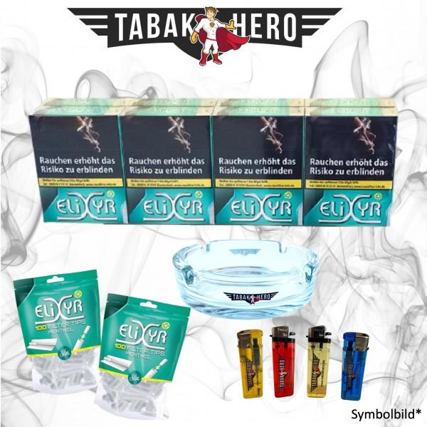 8 x Elixyr Zigaretten XL + 200 Elixyr Tips (Energy) Menthol-Filtertips + Zubehör