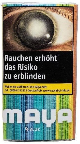10x Maya Blau (Blue) Tabak 30g Pouch (Drehtabak / Feinschnitt)