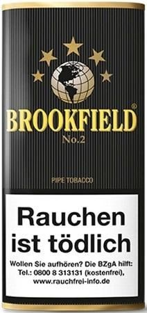 Brookfield No.2 (Black Vanilla) Tabak 50g Pouch (Pfeifentabak)