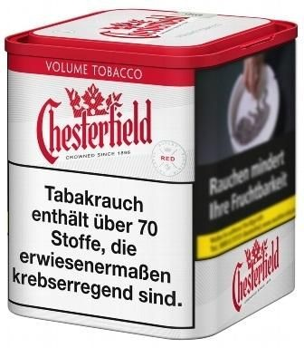 5x Chesterfield Red L Tabak 45g Dose (Stopftabak / Volumentabak)