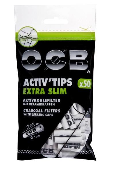 10 x 50 Stück OCB Filter Extra Slim Aktivkohlefilter