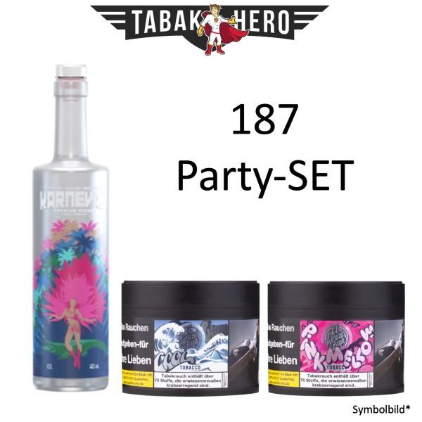 187 Party-Set Karneval Vodka + 2x 187 Shisha Tabak