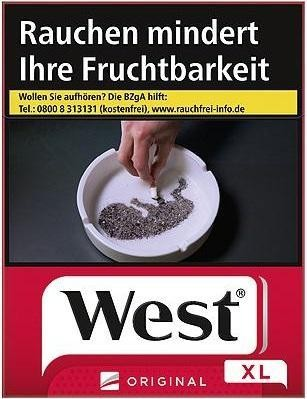 West Red Zigaretten (22 Stück)