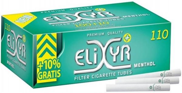1100 Stück Elixyr + Menthol Filterhülsen Zigarettenhülsen Stopfhülsen