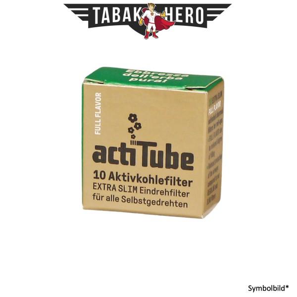 actiTube Extra Slim Aktivkohlefilter 6mm, 10 Filter, Länge 27mm