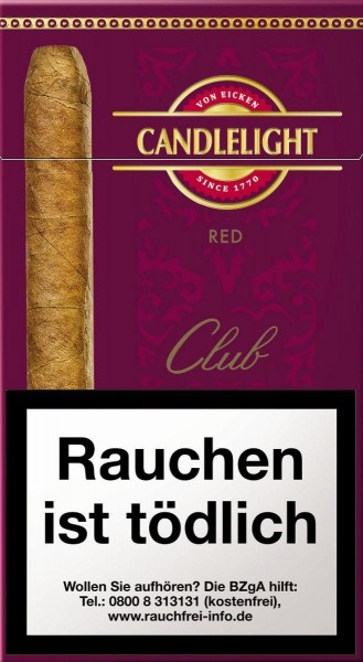 Candlelight Senorita Club Cigarillos Red (10 Zigarillos)