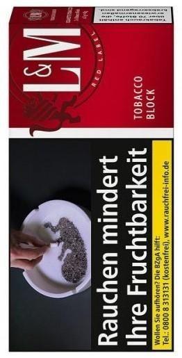 5x L&M Tobacco Red Block Tabak 42g Pouch (Drehtabak / Feinschnitt)