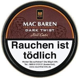 Mac Baren Dark Twist Roll Cake Tabak 100g Dose (Pfeifentabak)