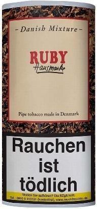 5x Danish Mixture Ruby (Cherry) Tabak 50g Pouch (Pfeifentabak)
