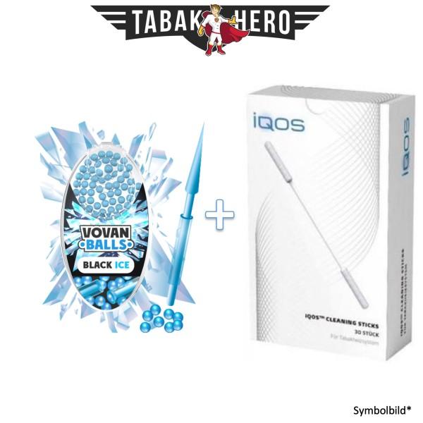 HEETS / IQOS Cleaning Sticks + 1x Aromakugeln Black Ice 100 stk.