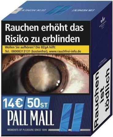 Pall Mall Blue Zigaretten (49 Stück)